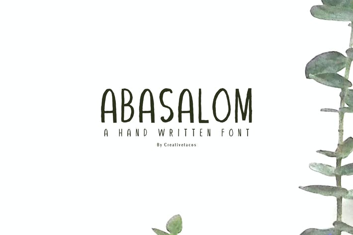 Thumbnail for Abasalom A Handwritten Font