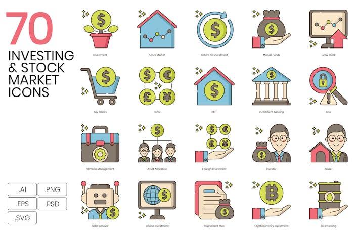 70 Investieren & Börsen-SIcons