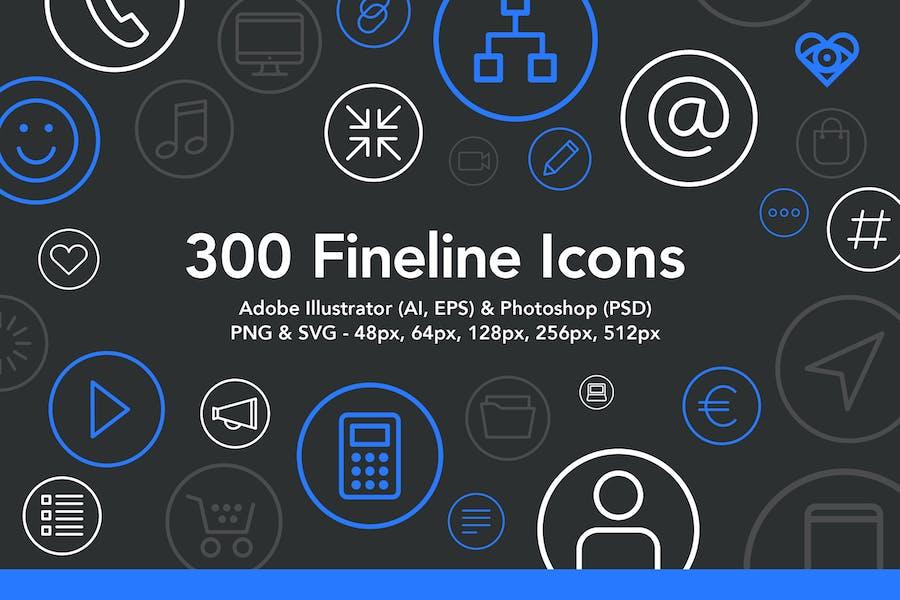 300 Fineline-Icons
