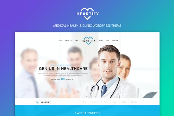Thumbnail for Heartify - Medical Health & Clinic WordPress Theme