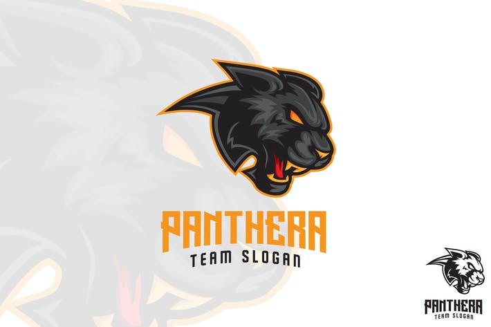Thumbnail for Black Panther Sports Logo Mascot