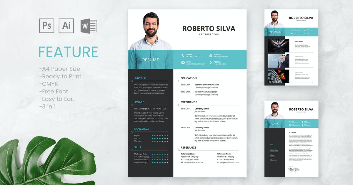 Download Professional CV And Resume Template Roberto by WPBootstrap