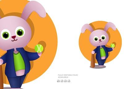 Cool Bunny Illustration
