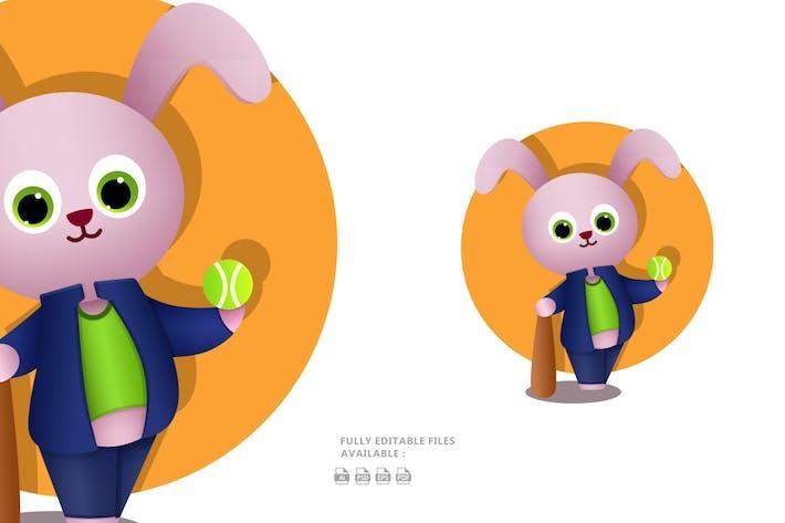 Thumbnail for Cool Bunny Illustration