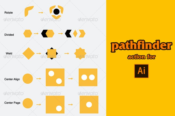 Cover Image For pathfinder action for adobe illustrator