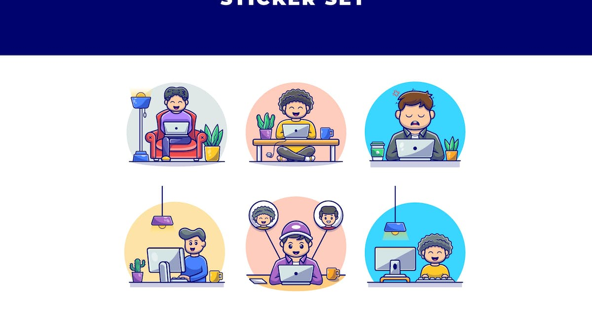 Download WORK FROM HOME STICKER SET by SecondSyndicate