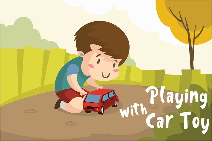 Thumbnail for Car Toy - Vector Illustration