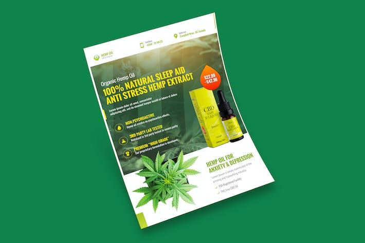 Thumbnail for Cannabis Hemp Oil Products Flyer