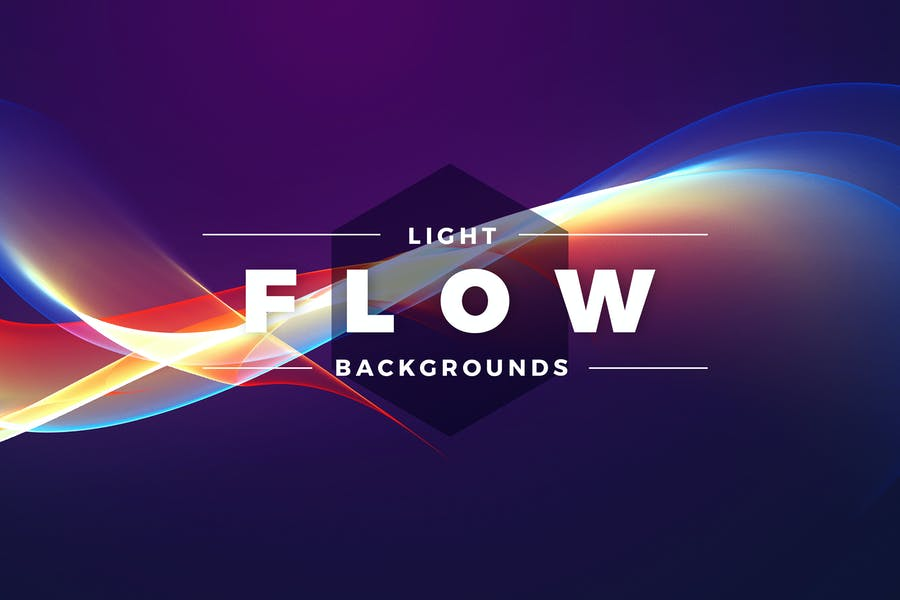 Abstract Light Flow Backgrounds