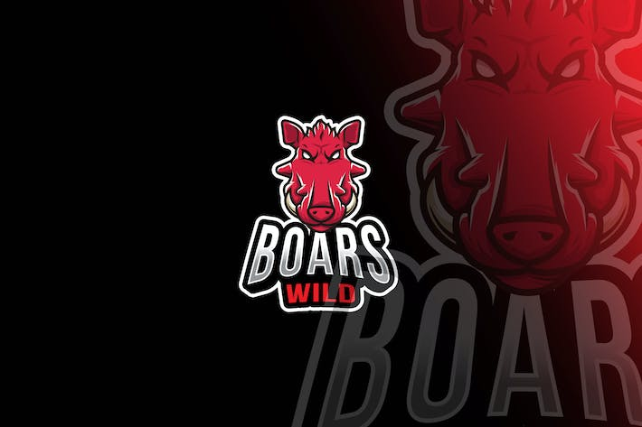 Thumbnail for Boars Wild Esport Logo Template