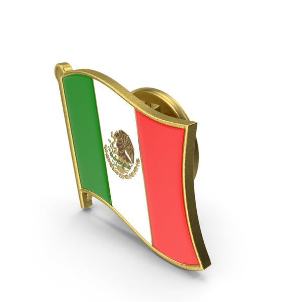 Значок мексиканского флага