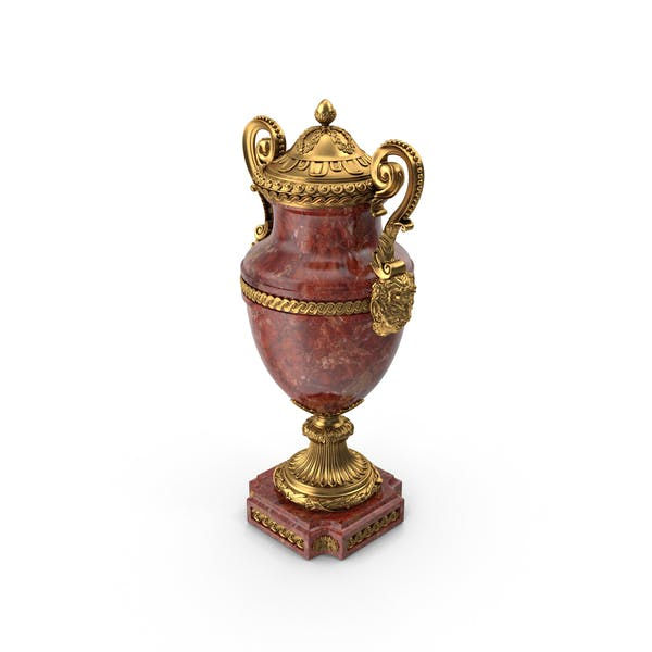Thumbnail for French 19th Century Louis XVI St Rouge Griotte And Ormolu Lidded Urn