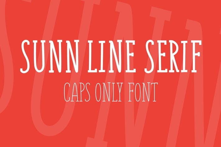 Thumbnail for SUNN Line Serif Caps Only Font