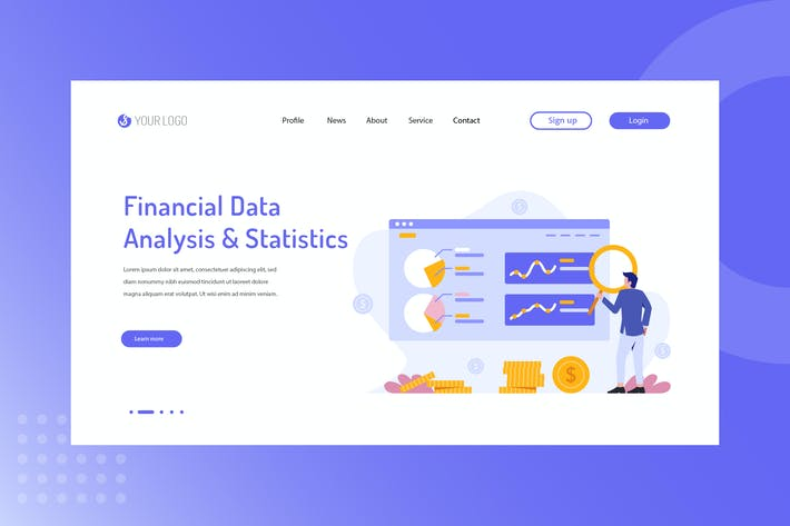 Thumbnail for Financial Data analysis & Statistics Landing Page