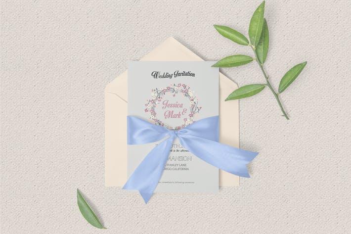Thumbnail for Vintage Wedding Invitation Template