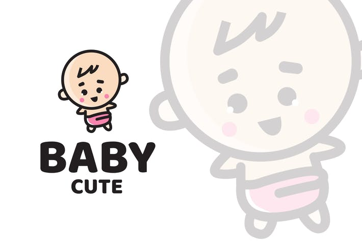 Thumbnail for Baby Cute Logo Template