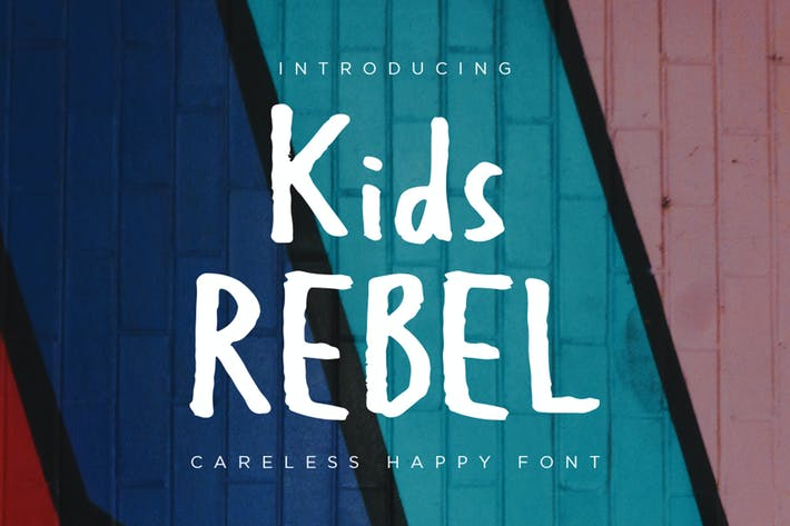 Kids Rebel - Happy Font