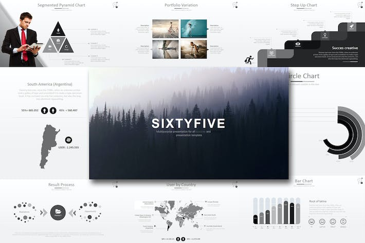 Thumbnail for Sixty 5 - Powerpoint Template