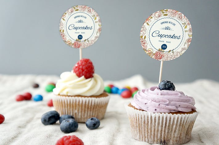 Cover Image For Cupcake Mockup