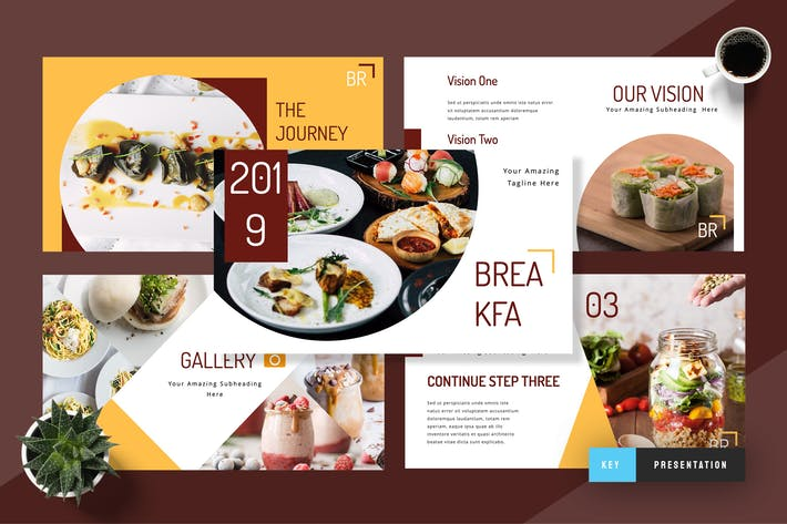 Cover Image For Breakfa - Food Keynote Presentation