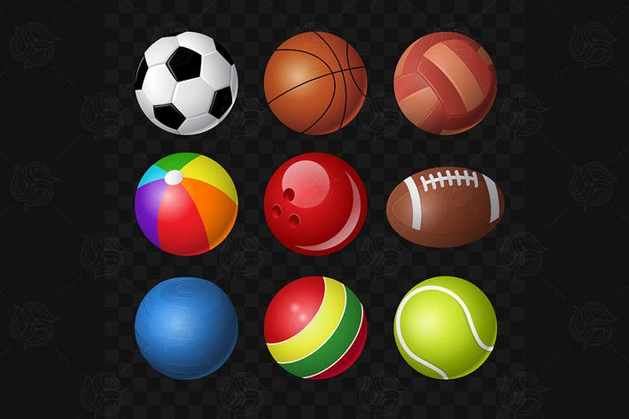 Cover Image For Balls - modern vector realistic isolated clip art