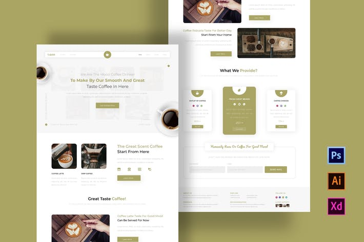 Thumbnail for Modèle de Newsletter Coffeelato