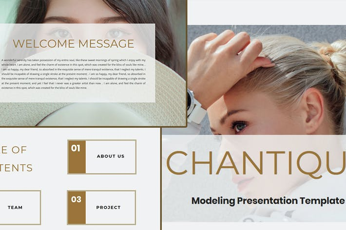 CHANTIQUE — Шаблон Keynote модели