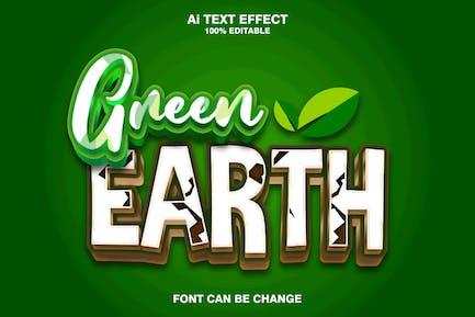 green earth 3d text effect
