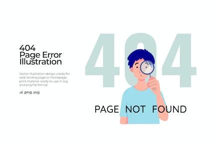 404 Page Error - Illustration