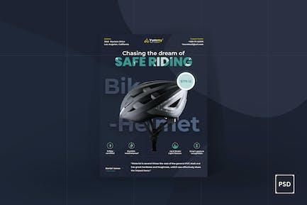 Fahrradhelm Poster PSD Vorlage