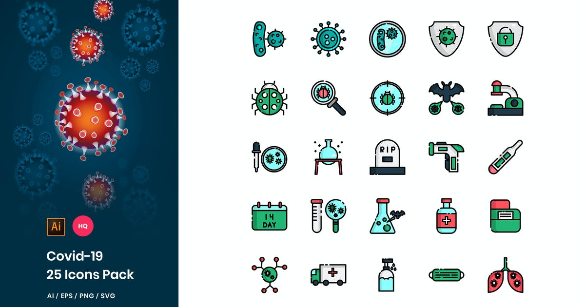 Download Covid-19 Icons Pack by StringLabs