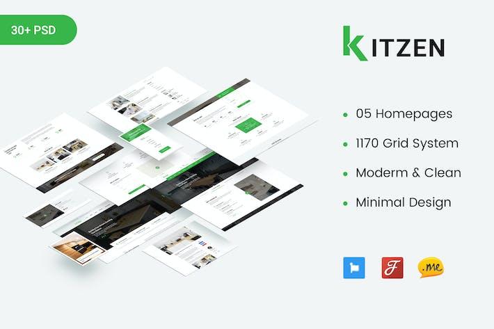 Thumbnail for Kitzen | Modern Kitchen PSD Template