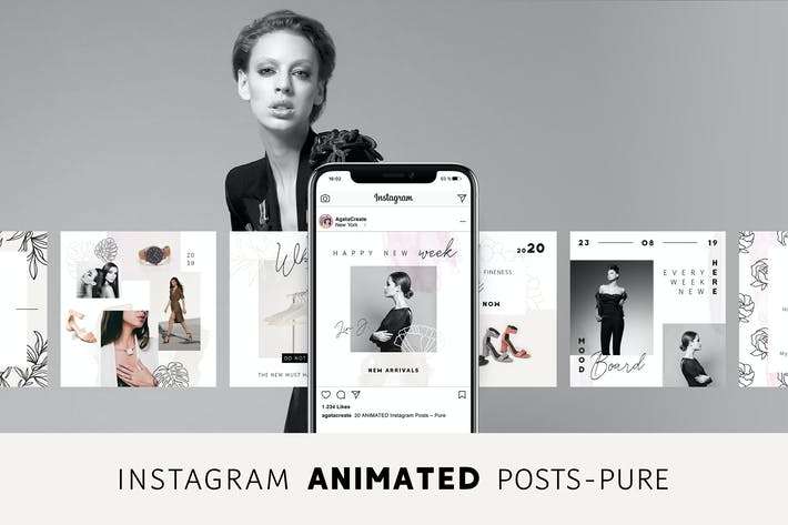 Thumbnail for ANIMATED Instagram Posts – Pure