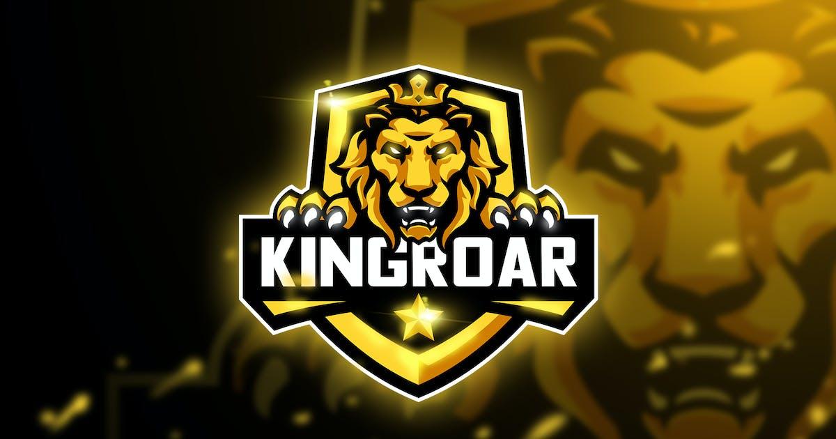 Download Kingroar - Mascot & Esport logo by aqrstudio