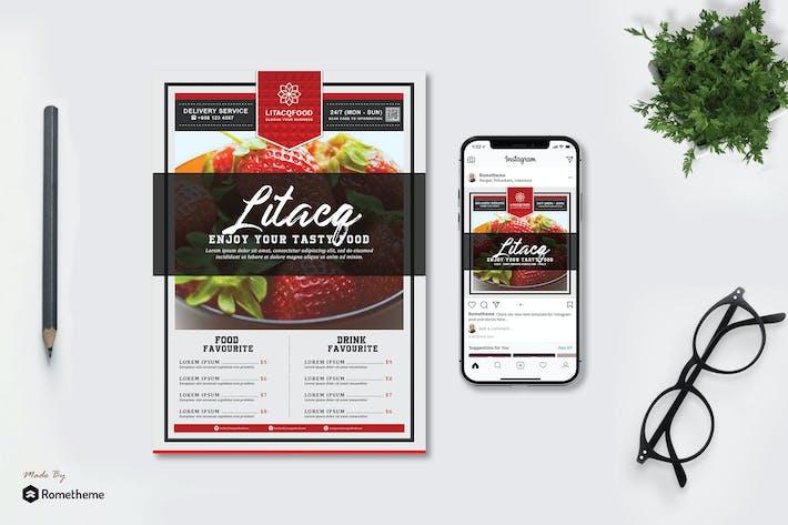Thumbnail for Litacq - Restaurant Menu Flyer & Instagram Post HR