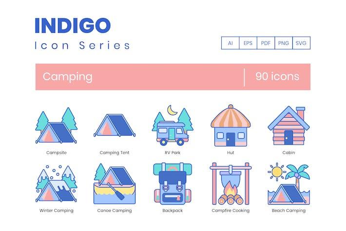 Thumbnail for 90 Camping Icons | Indigo Serie