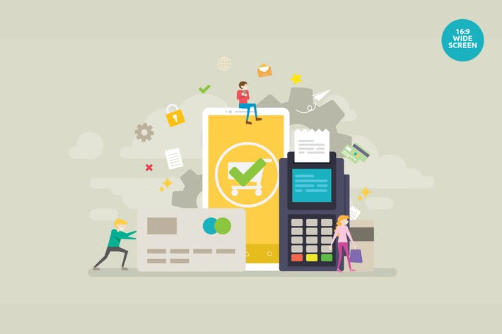 Thumbnail for Concepto Vector de Transacciones Comerciales en Línea Segura