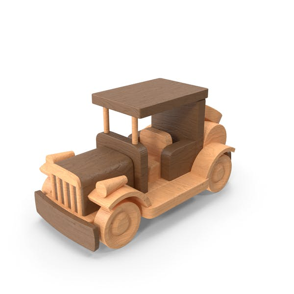 Thumbnail for Wooden Retro Car