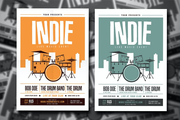 Thumbnail for Indie Drum Flyer
