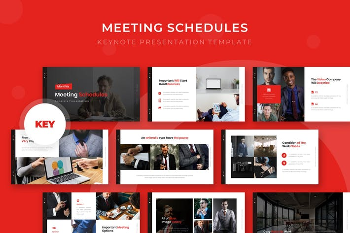 Thumbnail for Meeting Schedule - Keynote Template