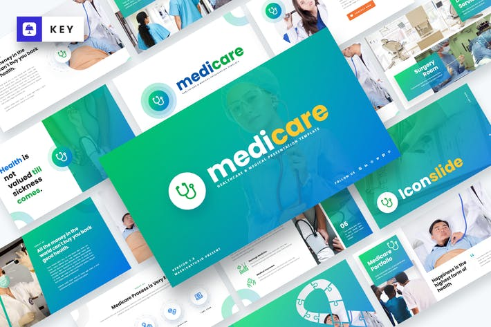 Thumbnail for Medicare - Healthcare & Medical Keynote Template