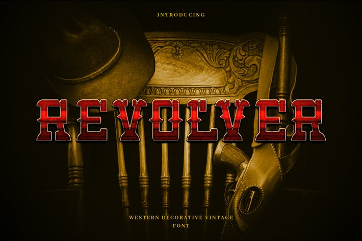 Thumbnail for Revolver - Western Cowboy Typeface