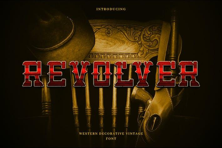 Revolver - Western Cowboy Tipo de letra