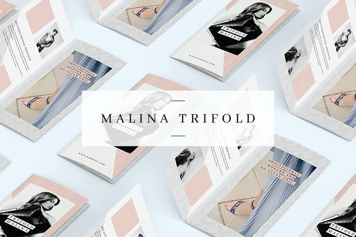 Cover Image For MALINA Trifold Brochure + Pattern