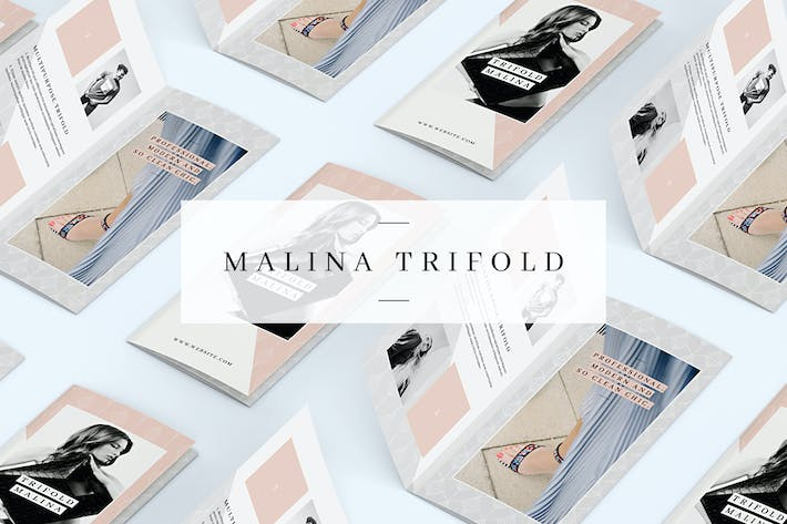 Thumbnail for MALINA Trifold Brochure + Pattern