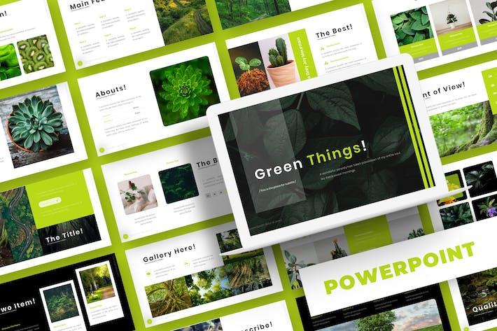 Thumbnail for Зеленые вещи - Шаблон Powerpoint