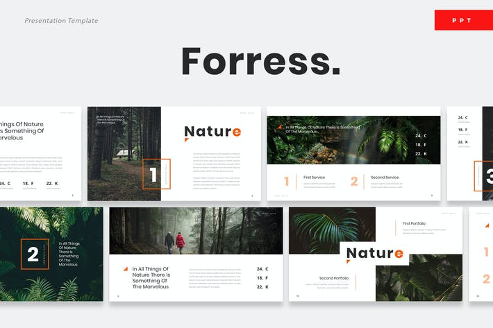 Cover Image For Foress - Nature Powerpoint Presentation Template