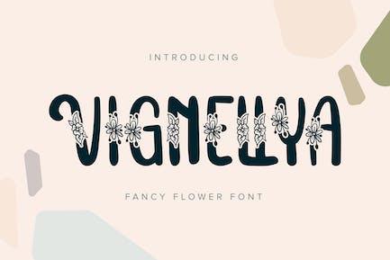 Vignellya | Fancy Flower Font
