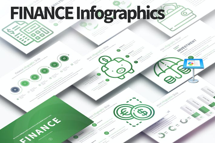 Thumbnail for Finance - Keynote Infographics Slides