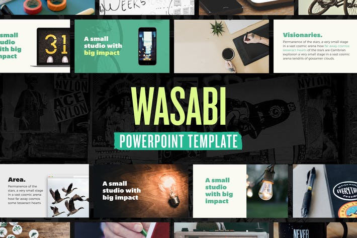 Thumbnail for Wasabi — Powerpoint Presentation Template